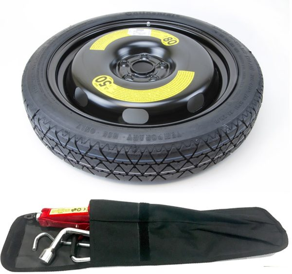"""Audi A3 (2003-2012) 18"""" SPACE SAVER SPARE WHEEL AND TOOL KIT-0"""