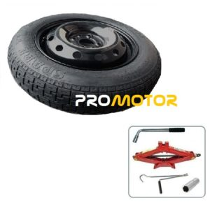 "Chrysler Ypsilon (2011-present day) 14"" SPACE SAVER SPARE WHEEL AND TOOL KIT-0"