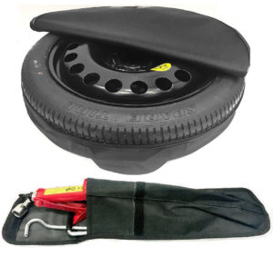 "BMW 5 Series (2004-2010) 17"" SPACE SAVER SPARE WHEEL AND TOOL KIT & COVER BAG-0"