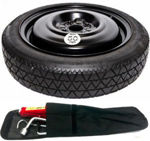 "VOLKSWAGEN UP, SKODA CITIGO, SEAT Mii (2012-PRESENT DAY) 14"" SPACE SAVER SPARE WHEEL AND TOOL KIT-0"