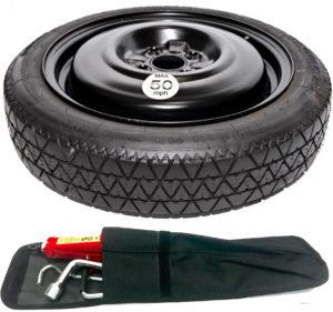 "Vauxhall Viva (2015-present day) 15"" space saver spare wheel + tool kit-0"
