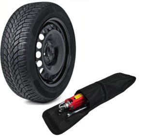 SKODA OCTAVIA (2005- present day) FULL SIZE SPARE WHEEL AND 205/60 R15 TYRE & TOOL KIT-0