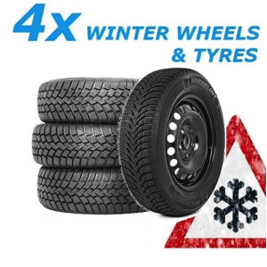 AUDI A4 (2000-2007) 4 WINTER STEEL WHEELS AND 205/55 R16 NEXEN TYRES-0