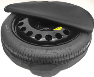 spare wheel with cover